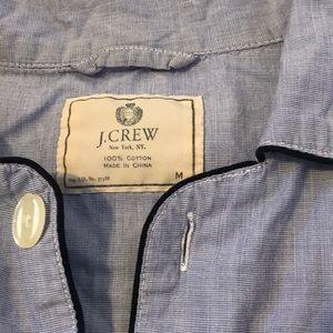J.Crew Button Up Pajama Shirt